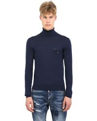 DSquared2 Turtle Neck Sweater with Pocket - Lyst
