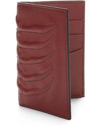Alexander McQueen   Embossed Leather Vertical Wallet   Lyst