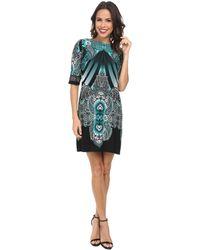 Rsvp Mirror Printed Sheath Dress - Lyst