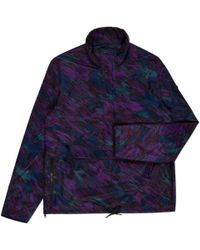 Paul Smith | Men's Purple 'surface' Print Half-zip Jacket | Lyst