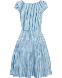 Issa Blue Stretch-Knit Dress - Lyst