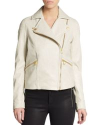 Marc By Marc Jacobs Avery Crackled Leather Jacket - Lyst