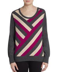Mason by Michelle Mason Intarsia Wool  Cashmere Sweater - Lyst
