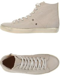 Leather Crown High-Tops & Trainers white - Lyst