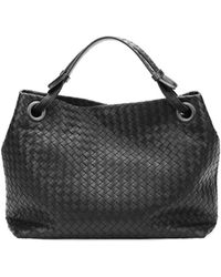 Bottega Veneta Medium Intrecciato Shoulder Bag Black - Lyst