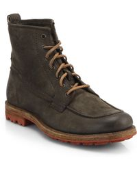Frye Phillip Lug-Bottom Lace-Up Boots gray - Lyst
