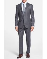 Hugo Boss 'James/Sharp' Trim Fit Wool Suit gray - Lyst