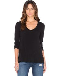James Perse   A-line Long Sleeve Tee   Lyst