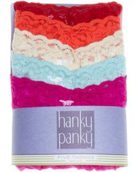 Hanky Panky Thongs - Original Rise, Set Of 5 #4811F - Lyst