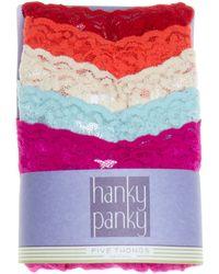 Hanky Panky Thongs - Original Rise, Set Of 5 #4811F - Lyst
