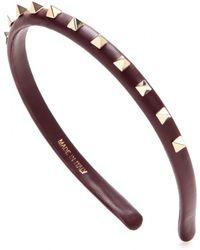 Valentino Rockstud Satin Hairband - Lyst