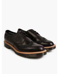 Dr. Martens Men'S Black Woven Leather 'Weaver' Shoes - Lyst