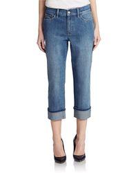 Nydj Stretch Denim Roll-Up Jeans - Lyst