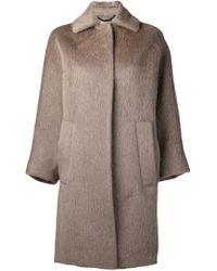 Burberry Oversized Coat - Lyst