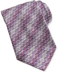 Missoni Small Zigzag Knit Tie - Lyst
