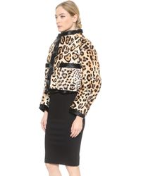 DSquared2 Leopard Haircalf Jacket  Jaguar - Lyst