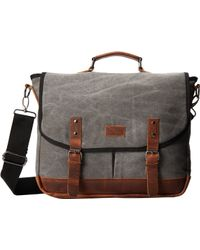 Original Penguin - Canvas & Wool Messenger - Lyst