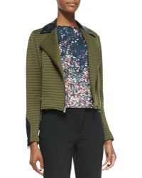 Waverly Grey - Bee Quilted-knit Jacket With Faux-leather Detail - Lyst