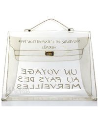 Hermes Pre-Owned Clear Vinyl Souvenir D' Exposition Kelly Bag - Lyst