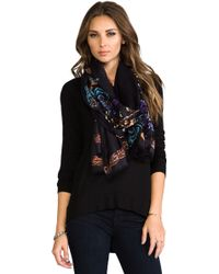 Twelfth Street Cynthia Vincent - We Shall See Chevy Blossom Scarf in Black - Lyst