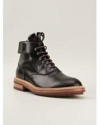 Kris Van Assche Black Lace-up Boots - Lyst