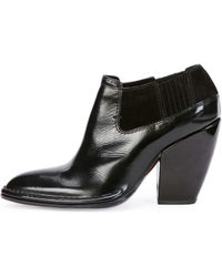 Costume National Pointtoe Leather Ankle Bootie - Lyst