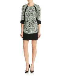 French Connection Contrast Print Shift Dress - Lyst