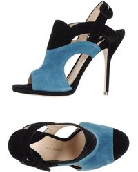 Paul Andrew Blue Sandals - Lyst