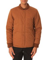 La Panoplie Brown Quilted Jacket - Lyst