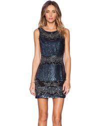 Needle & Thread Lace Cut-out Mini Dress - Lyst