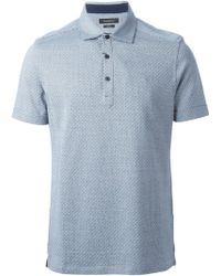 Ermenegildo Zegna Printed Polo Shirt - Lyst