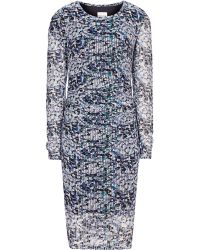 Reiss Fox Textural Bodycon Dress - Lyst