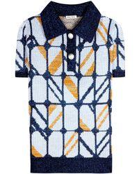 Miu Miu Woolblend Knitted Top - Lyst