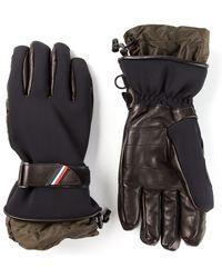 Moncler Grenoble - Strapped Bicolour Gloves - Lyst