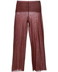 Jean Paul Gaultier Wide Leg Sheer Trousers - Lyst