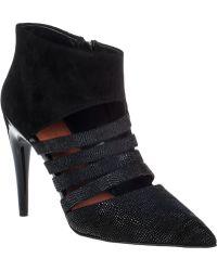 Rebecca Minkoff Ceasar Ankle Boot Black Lizard - Lyst