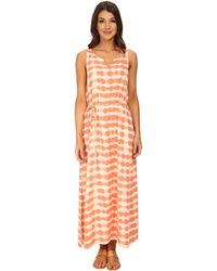 Two By Vince Camuto Sunbaked Stripe Sleeveless Drawstring Maxi - Lyst