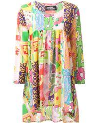 Jeremy Scott Flared Patchwork-Effect Dress multicolor - Lyst