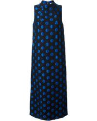 Suno Blue Polka Dot Shift Dress - Lyst