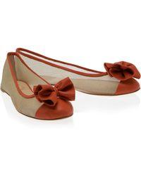Paul & Joe Mesh Leather Ballerina Flats - Lyst