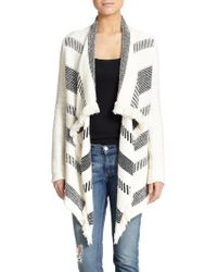 Ella Moss Paul Draped Stripe Cardigan - Lyst