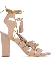 Loeffler Randall | Lace-Up Leather Sandals | Lyst