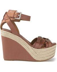 Ralph Lauren Wedge Sandals - Lyst