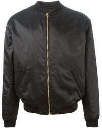 Versus  Lion Head Embroidery Bomber Jacket - Lyst