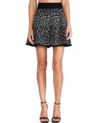 Milly Cheetah Jacquard Flare Skirt - Lyst
