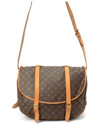 Louis Vuitton Preowned Brown Monogram Canvas Saumur 43 Shoulder Bag - Lyst