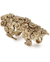 Bernard Delettrez - Bronze Floral Articulated Ring - Lyst