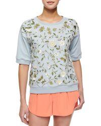 Alice + Olivia Gloria Embroidered Sweatshirt - Lyst