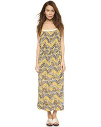 Sea Pintuck Tank Dress - Yellow - Lyst
