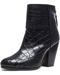 Rag & Bone Classic Newbury Embossed Leather Booties - Lyst